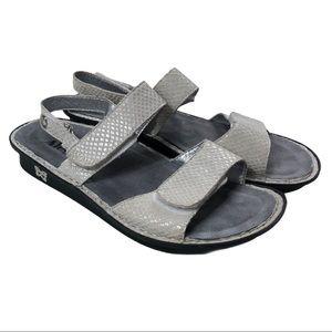 Alegria Verona Silver Sandal Size 7.5